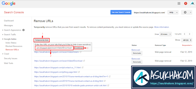 Cara Menghapus URL Artikel yang Terindeks pada Google