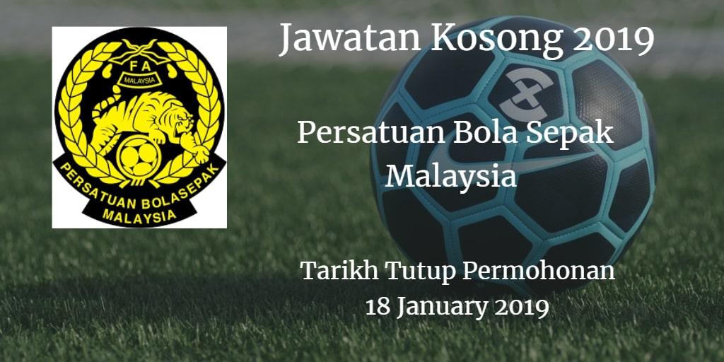 Jawatan Kosong FAM 18 January 2019
