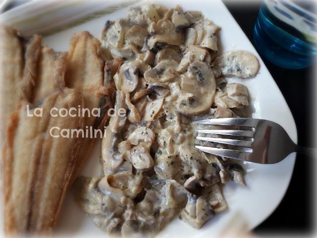Champiñones con salsa de yogur (La cocina de Camilni)