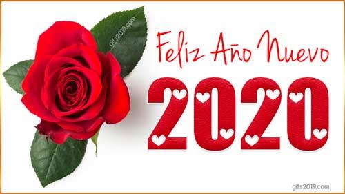 feliz año nuevo 2020 imagen rosa