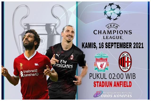 Link Live Streaming Liga Champions Liverpool vs AC Milan