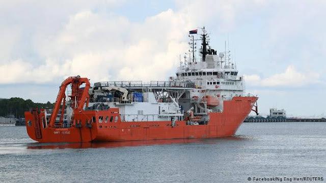 Singapur ha enviado el MV Swift Rescue para ayudar en la búsqueda