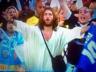 Lustige Menschen Spassbilder im Fernsehen - Jesus ist da!