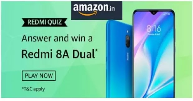 Amazon Redmi Quiz Answers-Win Redmi 8A Dual