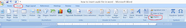 add audio file in word