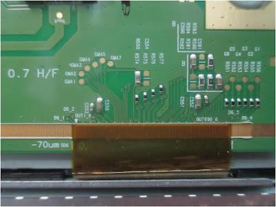 Perbaikan Tv LCD/LED Panel LG gambar hilang timbul dengan Cara Jumper Tegangan