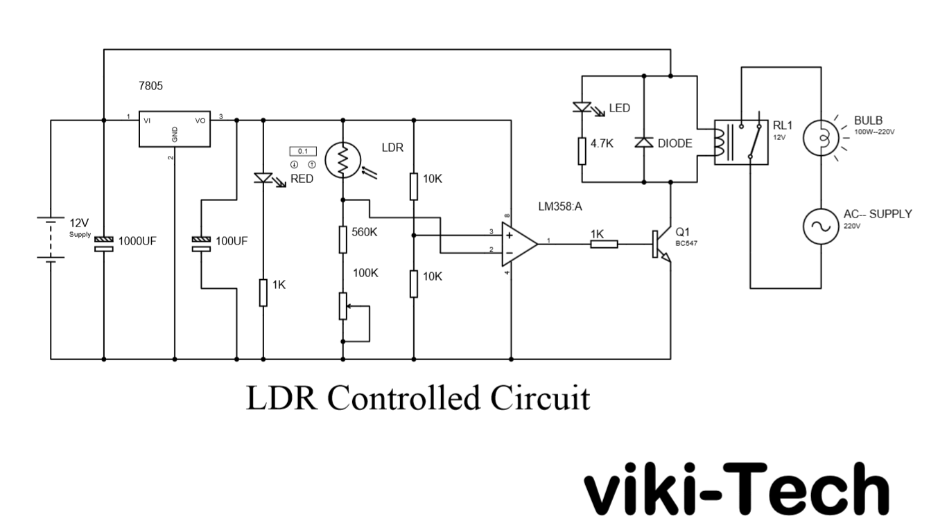 Automatic Light Control Using Ldr And Relay The To Another Circuit