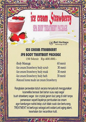 Spa Es Krim Strawberry - Sekitar Dunia Unik