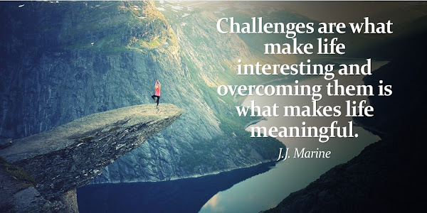 J.J. Marine: CHALLENGES are what make LIFE interesting and OVERCOMING them is what makes LIFE meaningful - Quotes
