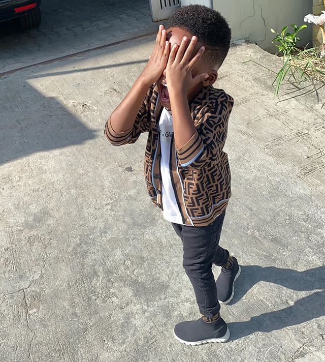 Adorable new photo of Tiwa Savage's son, Jamil
