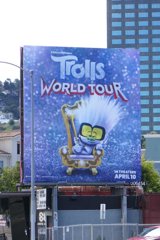 Tiny Diamond Trolls World Tour movie billboard