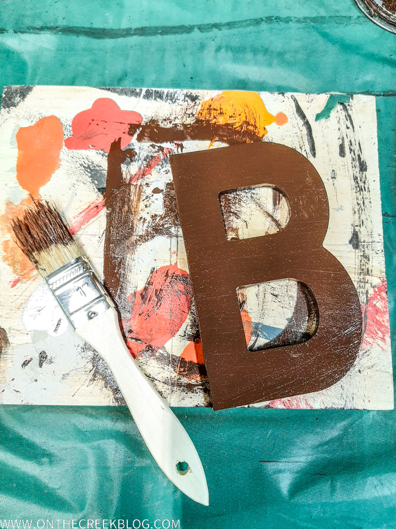 Creating a crackled & distressed finish using school glue | www.onthecreekblog.com