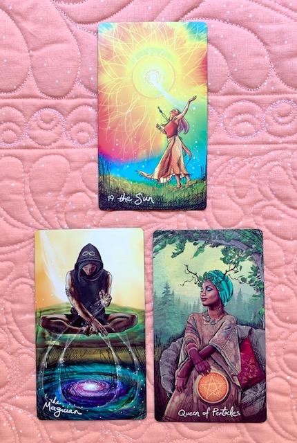 Mother-Tarot-The-Sun-The-Magician-Queen-Pentacles-Light-Seers-Tarot