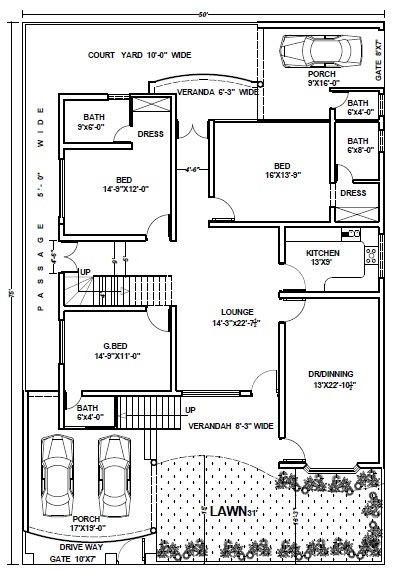 14 3750 sft marla house plan