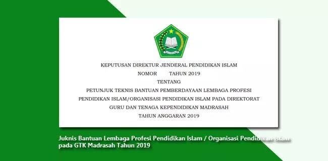 Juknis Bantuan Lembaga Profesi Pendidikan Islam - Organisasi Pendidikan Islam pada GTK Madrasah Tahun 2019