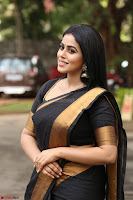 Poorna in Cute Backless Choli Saree Stunning Beauty at Avantika Movie platinum Disc Function ~  Exclusive 076.JPG