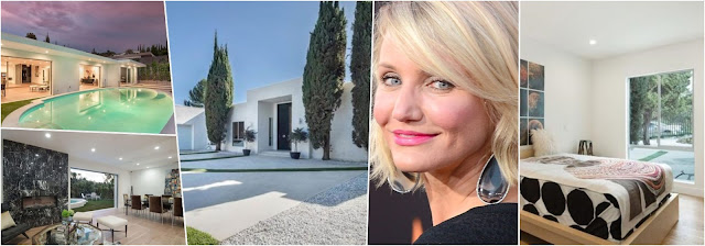 Simple and modern decor at Cameron Diaz's home