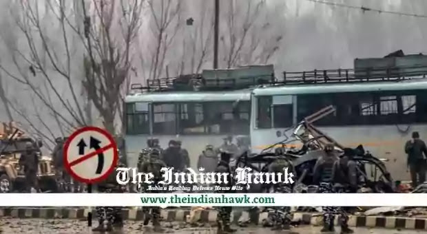 Security personnel carrying out the rescue in pulwama attack