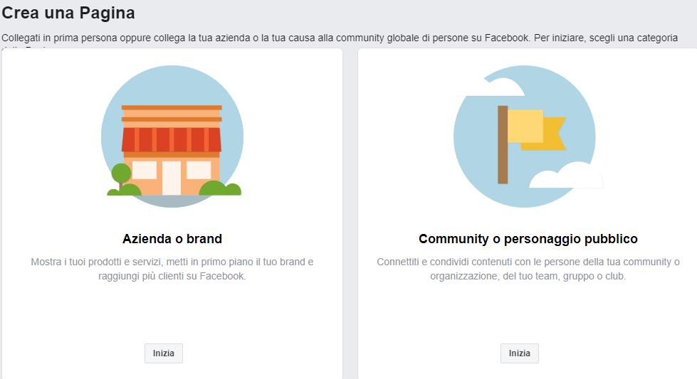 creare pagina Facebook per casa vacanze
