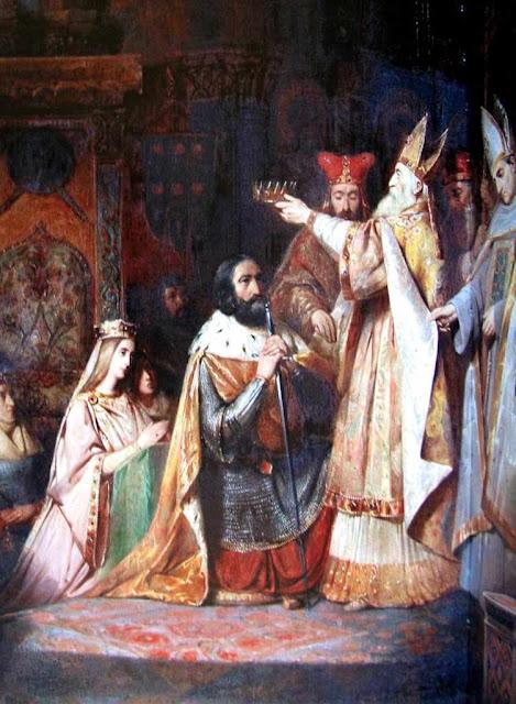 Coroação de Carlos Magno: os reis devem sua coroa aos Papas