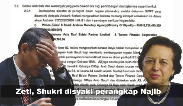 Zeti, Shukri disyaki perangkap Najib