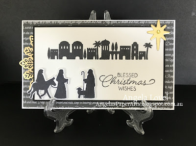 Stampin' Up! Night of Bethlehem card by Angela Lovel, Angela's PaperArts