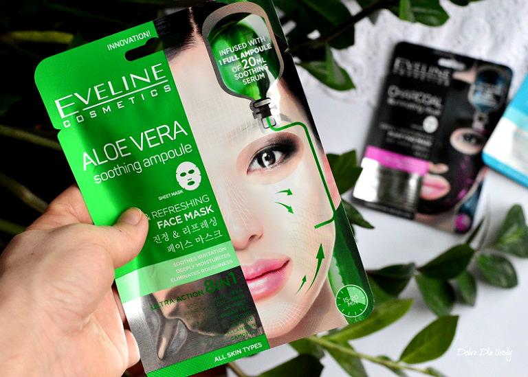 Eveline Aloe Vera Shooting Ampoule Sheet Mask Aloesowa ampułka kojąca 8 w 1 recenzja