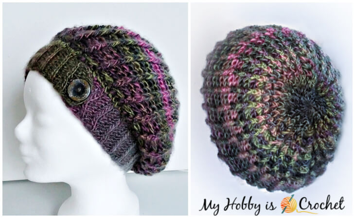 Crochet Echo Ridge slouch hat