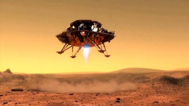 pouso da China em Marte