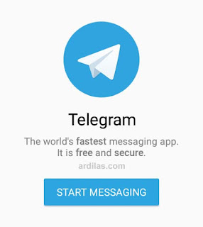 Tombol start messaging - Cara Download Install & Daftar Telegram Untuk Android