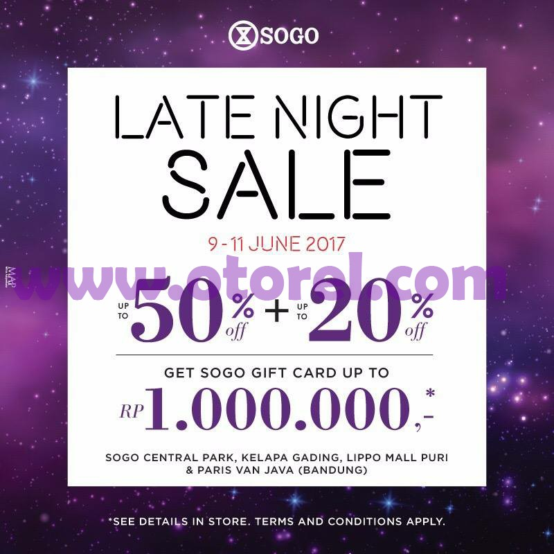SOGO Department Store Promo LATE NIGHT SALE Discount Up To 50%