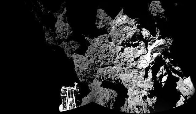 O cometa 67P/Churyumov-Gerasimenko recebe a visita da sonda Rosetta e Philae
