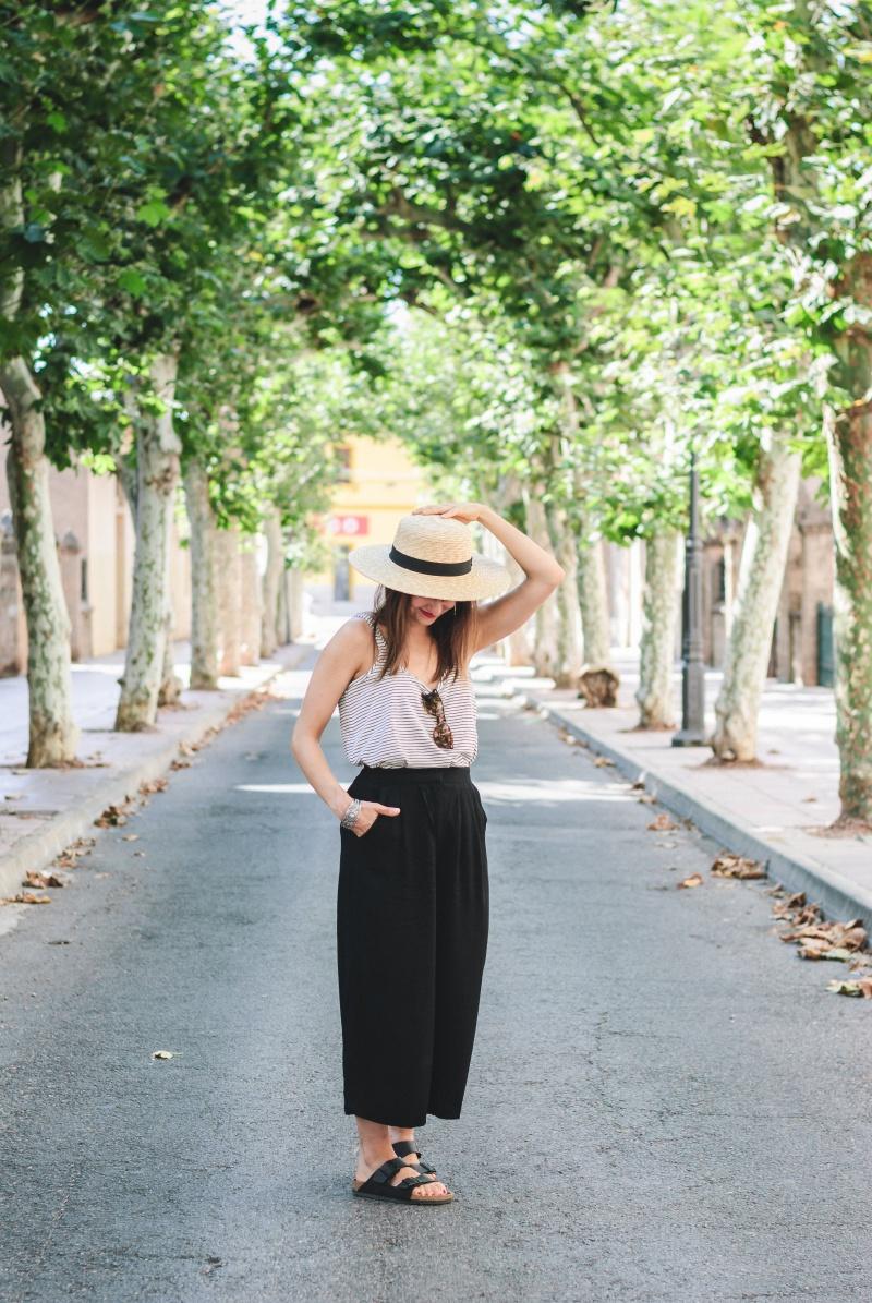 Stripes Black Culotte look