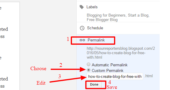 How to Edit Peramlink structure on a Blogspot blog