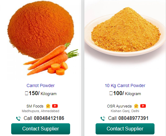carrot powder business, carrot powder price on amazon , carrot powder price on indiamart