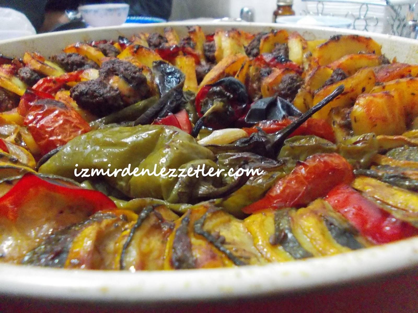 Fırında Sebze Dizmesi Tarifi – Sebze Yemekleri