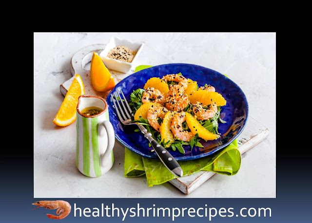 Easy healthy shrimp orange salad