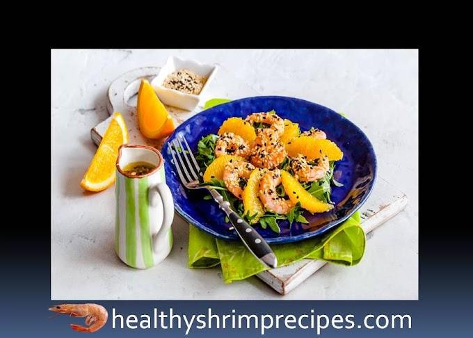 Easy healthy shrimp orange salad