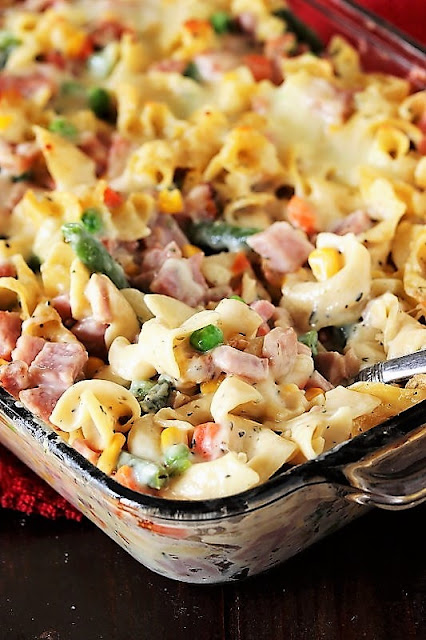 Creamy Leftover Ham & Noodle Casserole Image