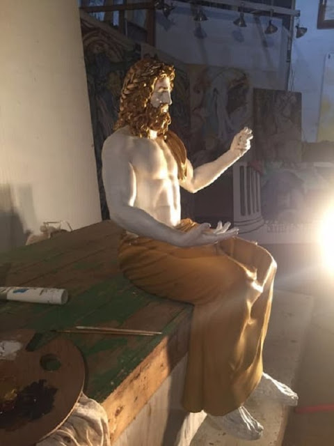 Lost statue of Zeus at Olympia recreated through 3D printing