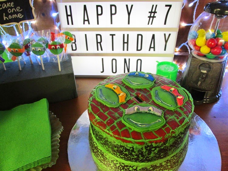 TMNT Party games - ninja turtle birthday cake