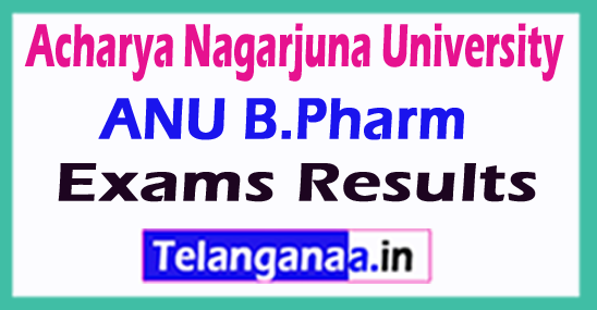 Acharya Nagarjuna University ANU B.Pharm Exam Results
