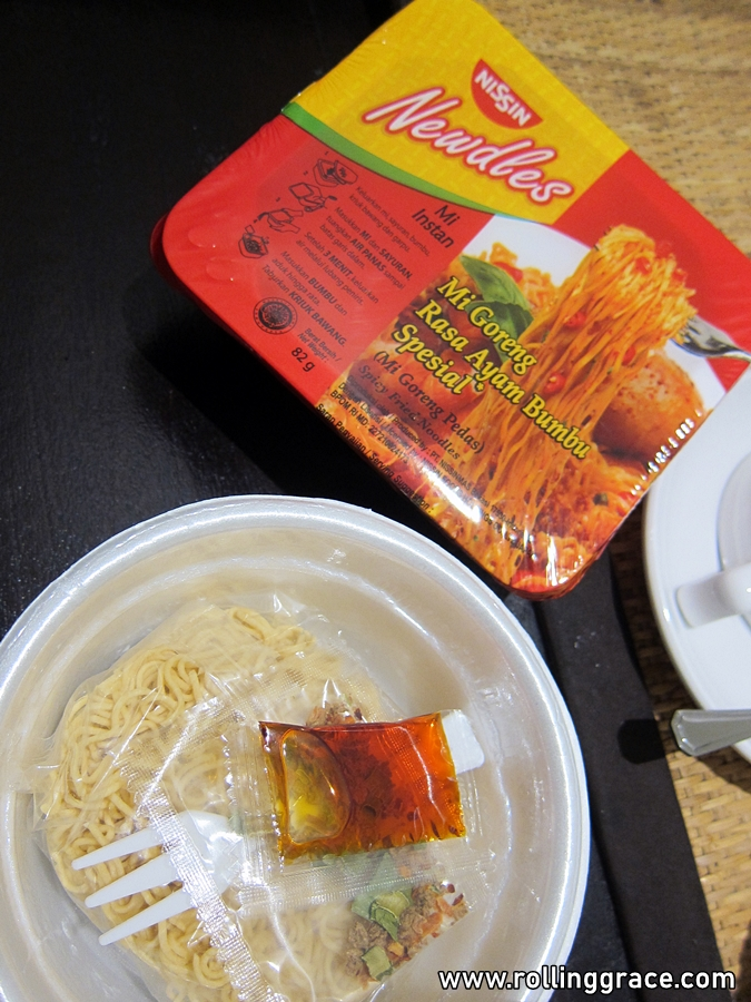 Instant Noodles in bali, indonesia