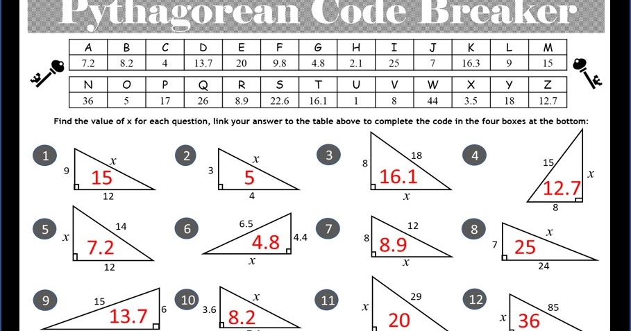 Pythagorean Theorem Activity ~ TenTors Math Teacher Resources