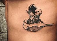 tatuaje son goku y krilli