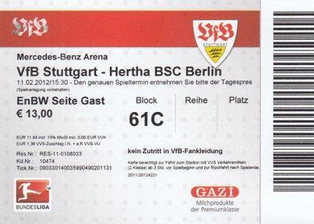 Vfb Eintrittskarten