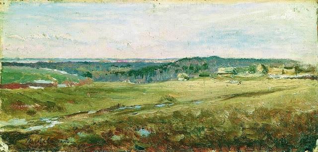 Исаак Ильич Левитан - Поле. 1890-е