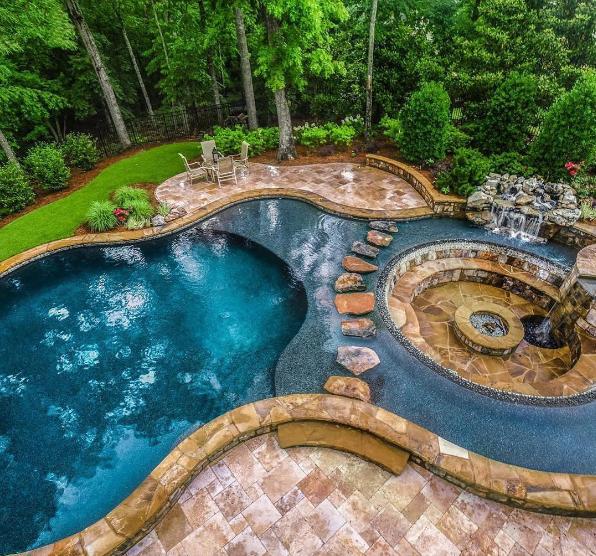 101 planos de casas 8 piscinas con un dise o natural - Piscinas con diseno ...