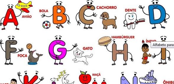 Alfabeto Para Imprimir Com Desenhos Coloridos Como Fazer