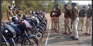 इन्दौर पुलिस महानिरीक्षक द्वारा बुरहानपुर का किया गया वार्षिक निरीक्षण